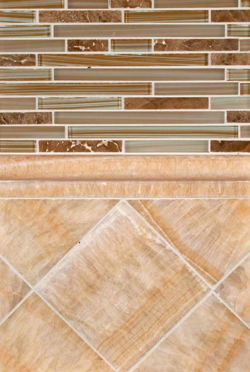 Onyx backsplash tile